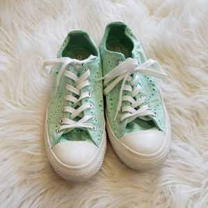 Converse Seafoam Lace Eyelet All Star Shoes